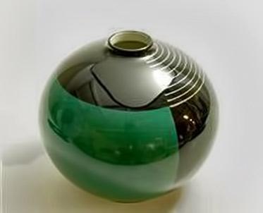 Nora-Gulbrandsen art deco spherical ceramic vessel