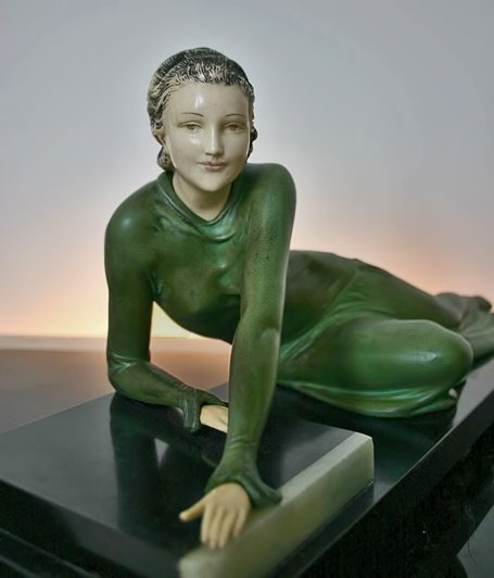 Stylish-art-deco-french-spelter-and-ivorine-by-Menneville-circa-1930