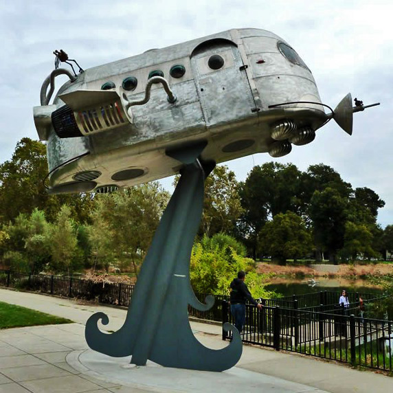 Airstream-Spaceship-in-Southside-Park-San-Francisco-by-Artist-Joe-Scarpa