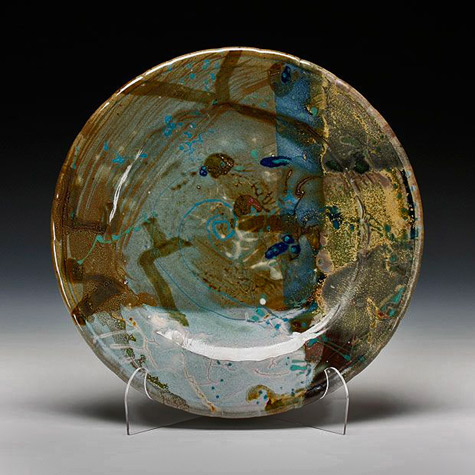 John-Glick medium platter 13 inches diameter Schaller Gallery