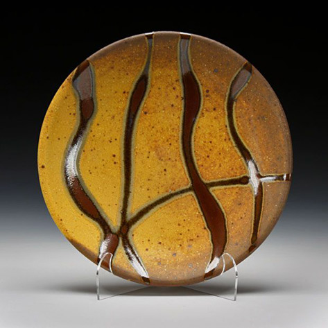 Stunning-glazes.schaller-gallery Randy Johnson dinner plate