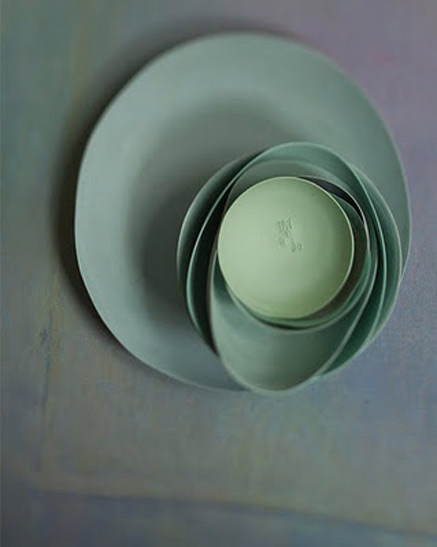 Artist and photographer: Dietlind Wolf Set of green ceramic bowls