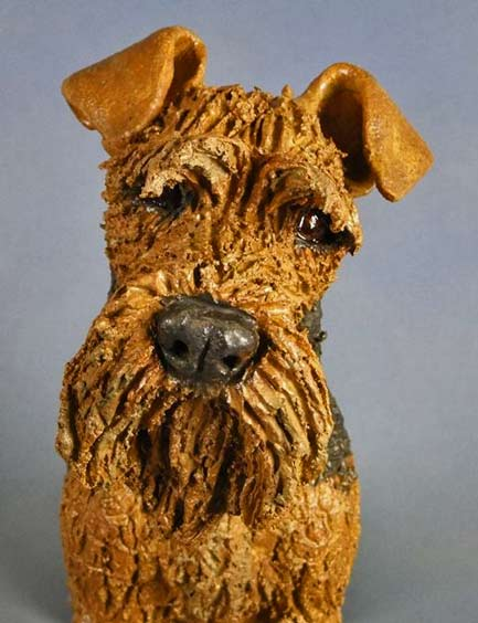 Airdale-dog figure - Joanne-Cooke
