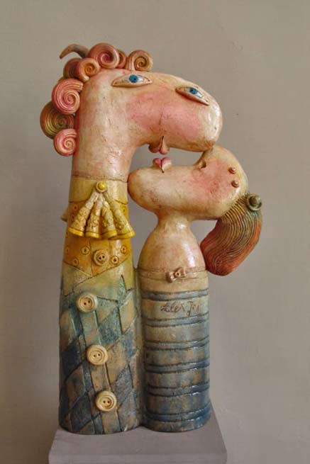 Alex-Johanson ceramic figurines - quirky couple