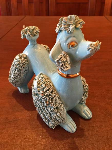 Turquoise-BLUE-POODLE-Decorative-Statue,-Made-in-Japan KikisAntiqueEmporium