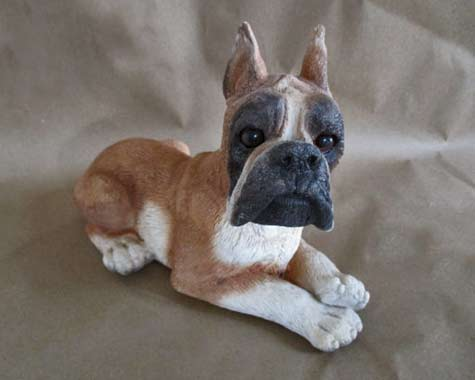 Boxer-Dog-Statue--80's-Classic-Critter-Large-Brown-&-White---OneMoeTimeVintage
