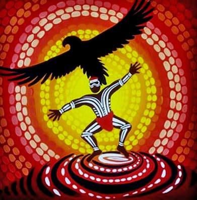 Bunjil-dancing Nathan Patterson - Iluka Art & Design