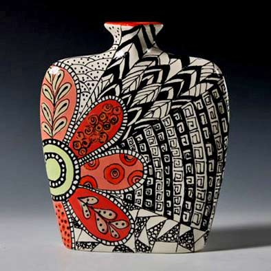Designer-Liner-Gallery zentangle art vessel