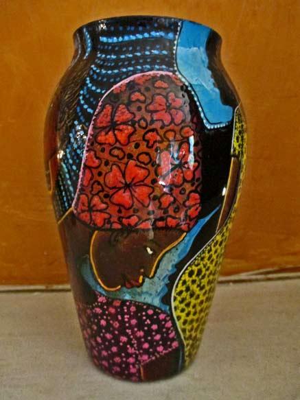Dudley-Vaccianna handpainted vase