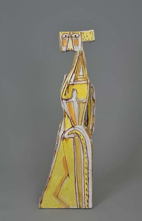 Guido Gambone,-Italy ceramic abstract figurine
