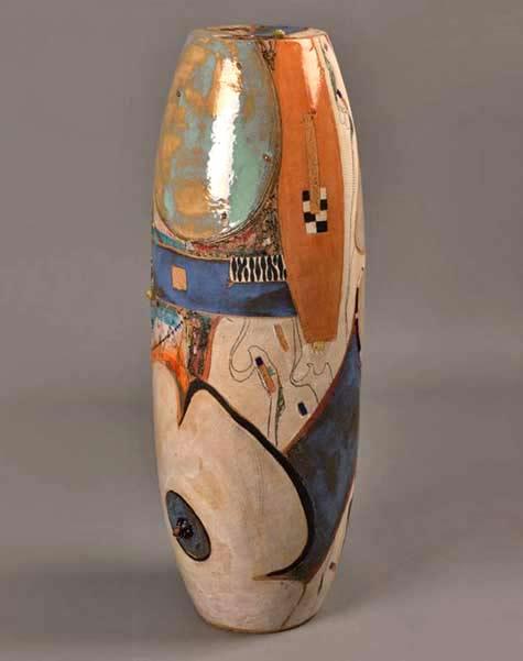 Ines-Hassenberg-(Germany) cylinder ovoid vase