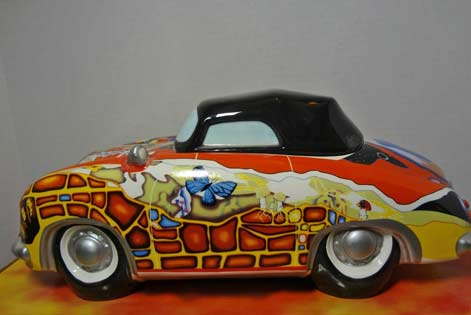 Psychedelic-1960's-Hippie-Porsche-Musical-Cookie-Jar-Mercedes-For-SaleVandor-2000