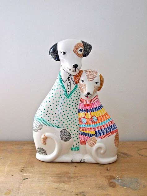 Jess Quinn cat couple figurine