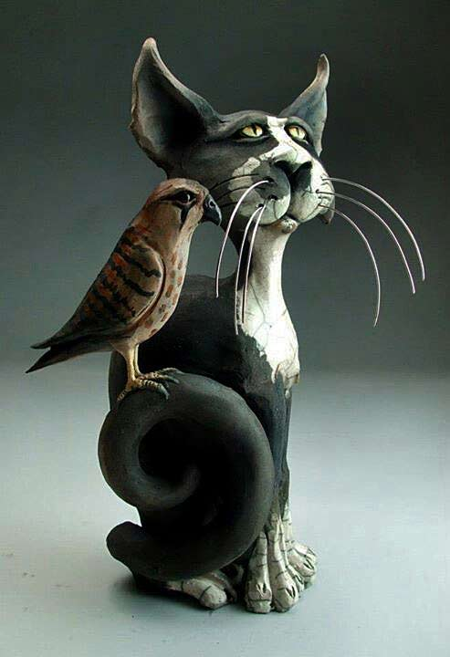Mitchell-Grafton---Grafton-Pottery---'Portrait-Of-A-Cat