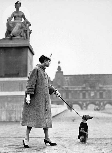 Model-in-tweed-coat-and-hat-by-Balenciaga--walks-her-dog--photo-by-Louise-Dahl-Wolfe--Harper-s-Bazaar--Paris--1955---Flickr---Photo-Sharing-