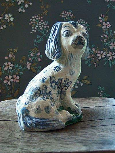 Nathalie-Lete floral print puppy figurine