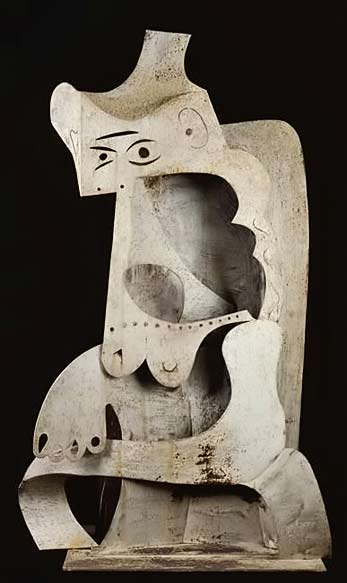 Pablo-Picasso-–-Woman-with-Hat,-1961,-Sheet-metal,-National-Museum-of-Modern-Art---Georges-Pompidou-Center,-Paris