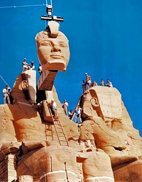 The-relocation-of-a-Abu-Simbel-temples-in-Nubia,-Egypt,-between-1964-and-1968