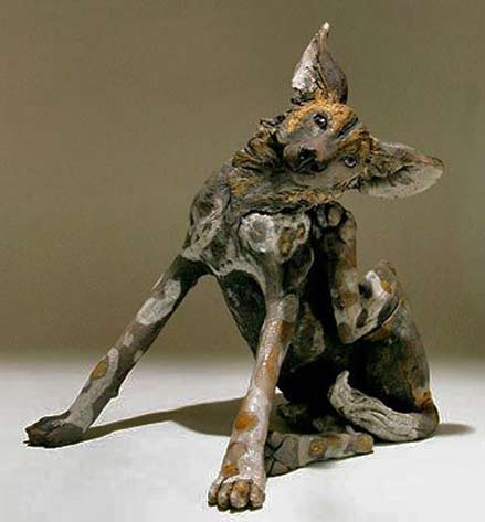 nick-mackman-sculptures--Wild-Dog-Sculptures---Clay-Animal-Sculptures-by-Nick-Mackman