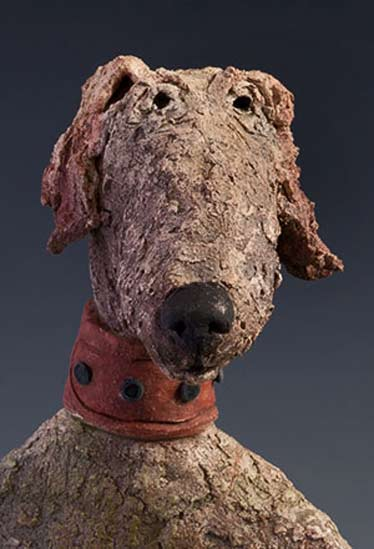 Pickles the Pup Ceramic Dog Sculpture