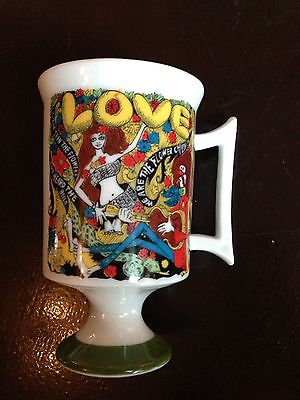 vintage hippie love boho flower children by pia cup mug