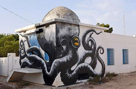 A-mural-by-Belgian-artist-ROA-is-part-of-the-street-art-project-'Djerbahood'--Photograph--Mohamed-Messara-EPA