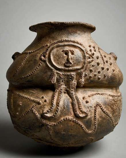 A-vessel-from-the-Mambila-peoples-~-Nigeria,-Cameroon