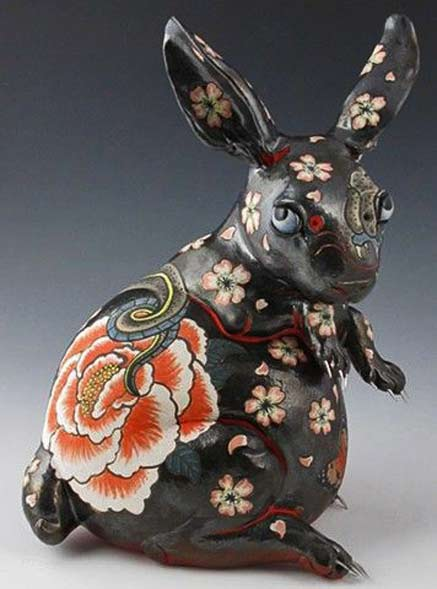 Acceptance--ceramic-rabbit-sculpture-by-Joey-Chiarello