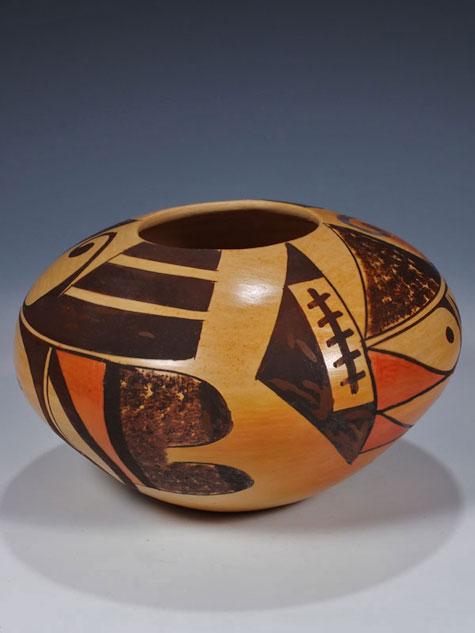 Adelle-Nampeyo Hopi-pottery seed pot