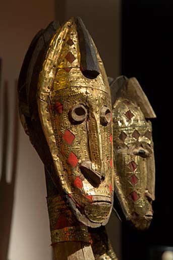 African-masks at Madrid art and antiques fair