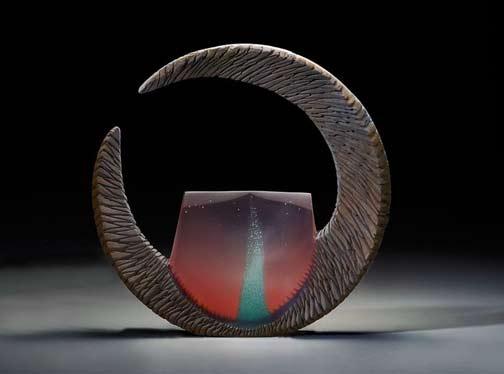 Alex-Bernstein-Copper-Window,-2015-Cast-&-cut-glass,-fused-steel-Habitat-Galleries