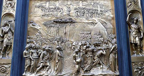 ArtToursLtd-Florence+Tuscany-East Doors of the Baptistry in Florence Italy.