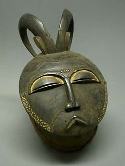 African Baule-Mask---Ivory-Coast---Moon-Mask