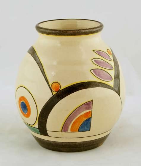 Colored-pottery-vase---Velsen-1930
