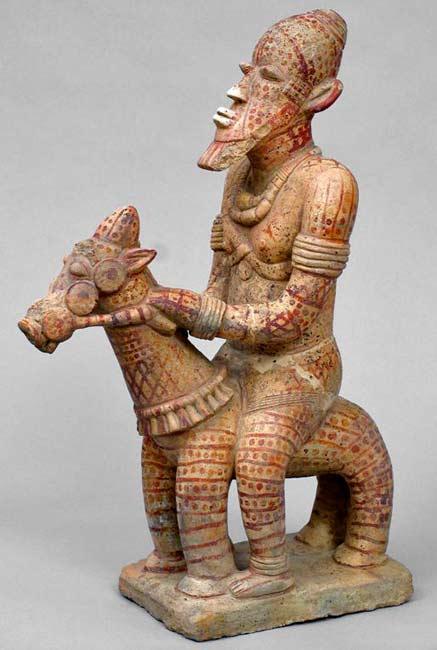 Djenne-equestrian-figure,-Mali,-c