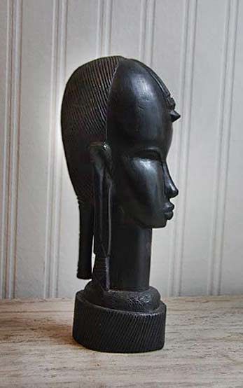 Ebony-Wood,-African-Bust,-African-Carved-Wood,-Tribal-Decor,-BESMO,-Kenya,