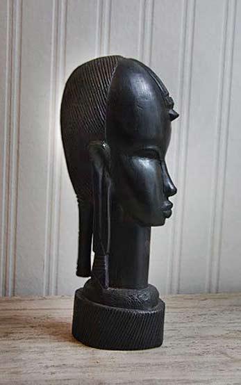 Ebony-Wood,-African-Bust,-African-Carved-Wood,-Tribal-Decor,-BESMO,-Kenya,