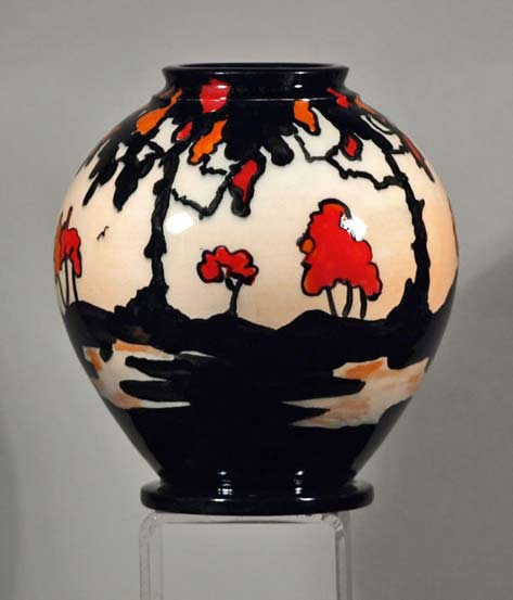 Echo-of-Deco-Art-Deco-Inspired-Hand-Thrown-&-Hand-Decorated-bulbous Trees-Vase