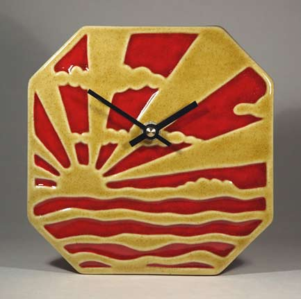 Echo-of-Deco-Art-Deco-Inspired-Sunburst-&-Clouds-Wall-Clock