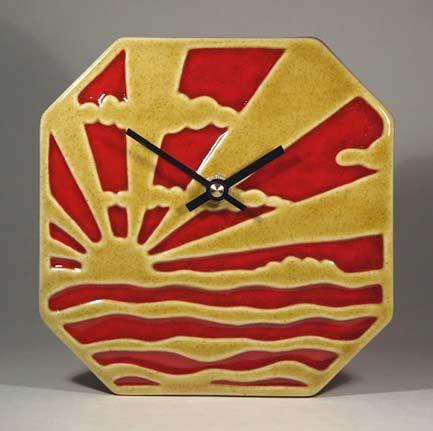 Echo-of-Deco-Art-Deco-Inspired-Sunburst-&-Clouds-Wall-Clock