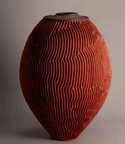 Emmanuel-Manu-Peccatte lidded ovoid vessel