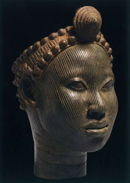 Head-with-crown,-14th---early-15th-century-copper-alloy