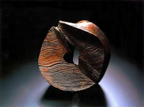 Kaku-Hayashi,-'Zero-Trajectory,'-2002,-stoneware--