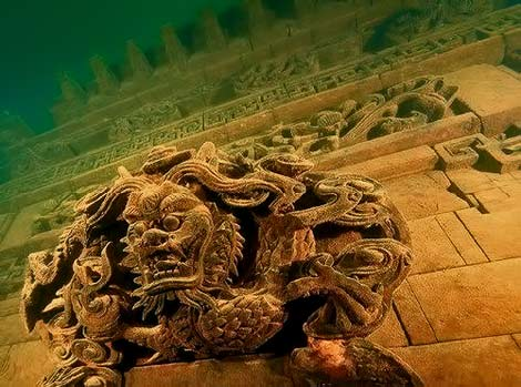 More-than-half-a-century-ago-was-flooded-Chinese-Lion-City-also-known-as-Shi-Cheng