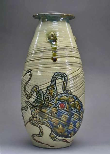 Octopus vase -Suzuki Miyagi