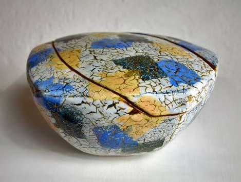 Philippe-Dubuc-- ceramic lidded vessel