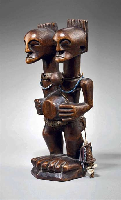 SONGYE-TWO-HEADED-FIGURE---Congo-Republic