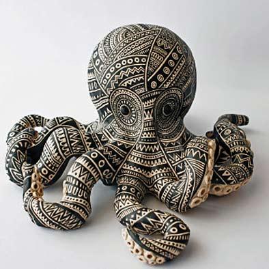 Sarah-Farrelly geometric decorative pattern octpus