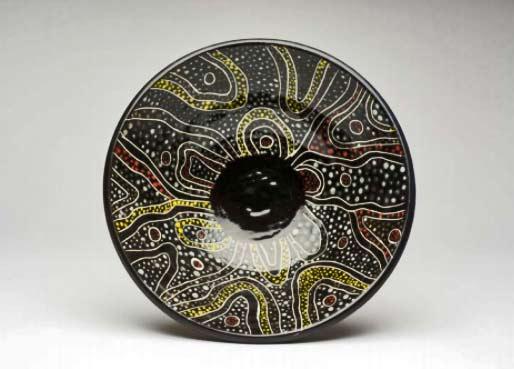 Toronto-Potters-2014 Kaleidoscope-Landscape-Bowl---Renee-Kleiman