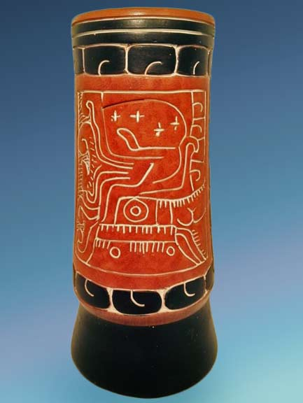 Vintage-Art-Pottery-Large-Vase-11inch-Signed-Armando-de-Mexico